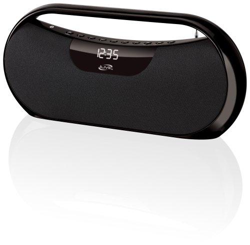 Ilive Ibb313b Black Bluetooth Boombox 3.5Mm Audio Input