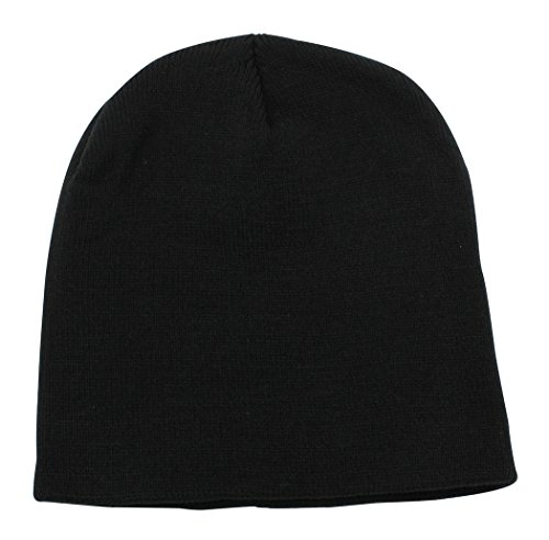 Black Knit Beanie Cap Hat - 8.5