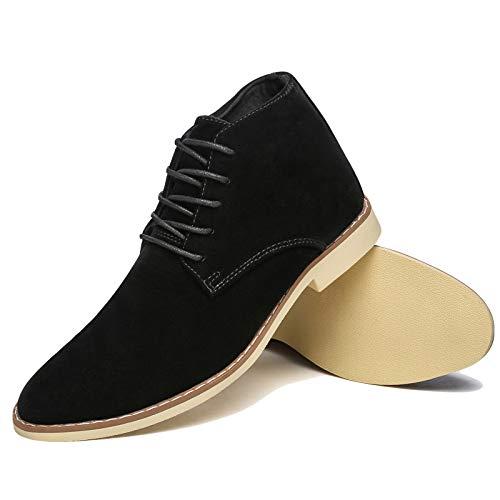 Tacones Trabajo Hombre Black Diario De Zapatos Para Tobillo Botas q1WrT1UY