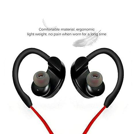 Headset Deportes en la Oreja, Auriculares Bluetooth Auriculares inalámbricos Sweatproof Earpods Auriculares Sprot Blutooth Auriculares estéreos Bajos para ...