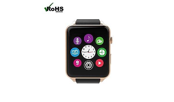 Reloj Inteligente Smartwatch Teléfonos Inteligentes Reloj con Podómetro/Monitor de Dormir/Monitor de Calorías/Llamada& SMS Alerta Soporte para Android ...
