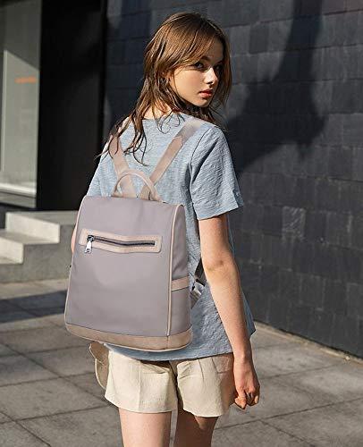Moda Nylon Furto Viaggi Donna Borse Anti Tisdaini Impermeabile Zaino Casual Grigio Scuola xAYwZBaqt
