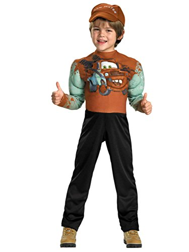 Disney Cars 2 Todder & Little Boys Tow Mater Halloween Costume S (4-6) (Disney Cars Tow Mater Costume)