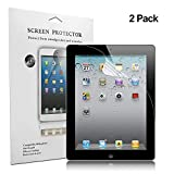 iPad 2 3 4 Screen Protector, Jwest Soft Screen Protector HD Clear Anti-Scratch/Bubble Free/Anti-Fingerprint Screen Shield Film Protector for iPad 2,iPad 3,iPad 4 (9.7 Inch)(2-Pack)
