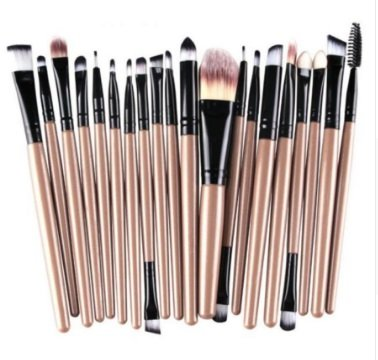 Beauty Fashion Hot! 20 pcs Makeup Brush Set tools Make-up Toiletry Kit Wool Make Up Brush Set je9 Drop Shipping