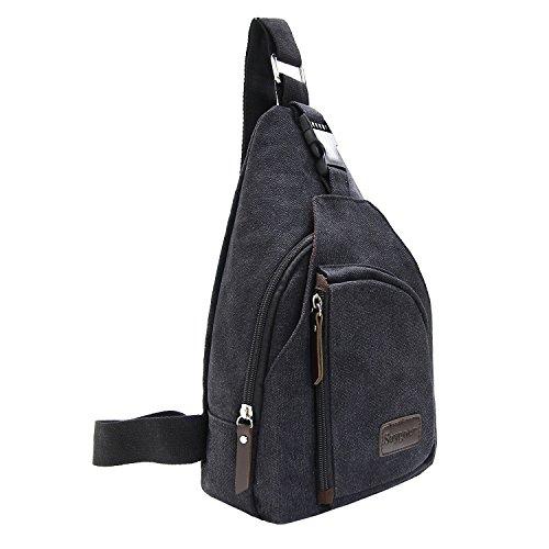 Saygoer Sling Shoulder Bag Purses Backpack Crossbody Backpack Small Backpack Travel Chest Bags Lightweight Sling Pack Black (Sling Purse Bag)