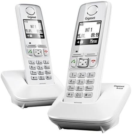 Gigaset A420 - Teléfono duo digital, blanco: Gigaset: Amazon.es: Electrónica