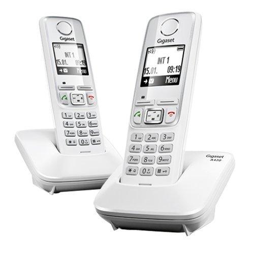 Téléphone fixe SIEMENS A420 BLANC DUO SANS REPONDEUR