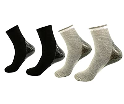 Best Cheap Deal for Makhry 2 Pairs Moisturizing Silicone Gel Socks for Dry Hard Cracked Skin Open Toe Comfy Recovery Socks Women Size 4-7 from Makhry - Free 2 Day Shipping Available