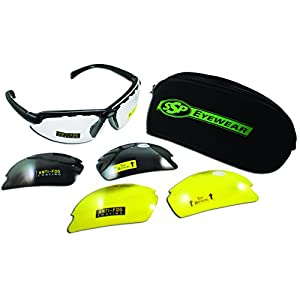 SSP Eyewear Shatterproof Safety Glasses Kit with Assorted Interchangeable Top Focal Lenses,TF 1.50 AST KIT