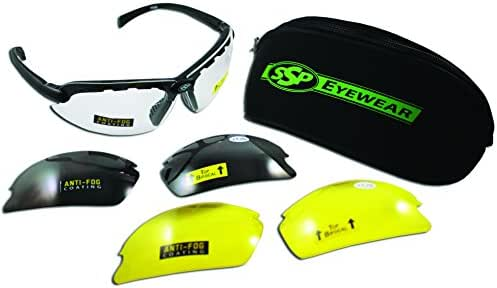 SSP Eyewear Top Focal Tactical Safety Glasses Kit with Assorted Interchangeable 2.50 Bifocal Lenses, TF 2.50 AST KIT