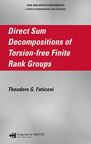Direct Sum Decompositions of Torsion-Free Finite Rank Groups (Chapman & Hall/CRC Pure and Applied Mathematics Book 285)