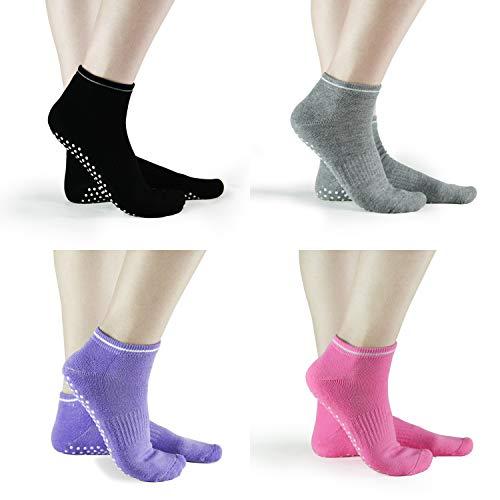 Sticky Grips Socks For Women Wood Floors Non Skid Slip Barre Ballet Socks