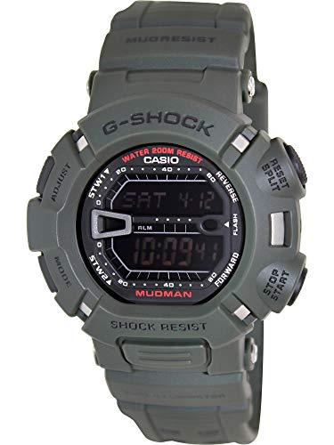 Casio Men s G9000-3V G-Shock Green Mudman Digital Sports Watch, Black