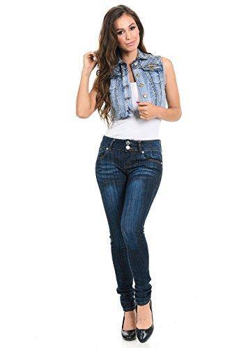 M.Michel Women's Denim Vest - Style 575 - Light Blue - Size Small by M.Michel (Image #1)