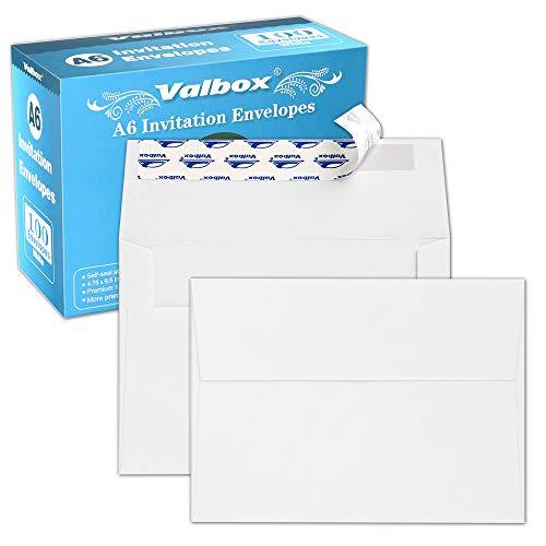 A6 Photo Paper - ValBox 100 Qty A6 Envelopes Self Seal 6.5 x 4.75