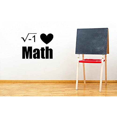 I love math classroom square root decorative wall decal sticker 13 h x 16 w black and white