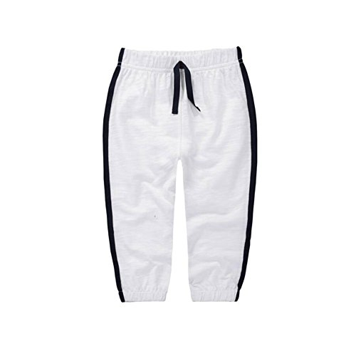 - Baby Toddler Sweatpant - Unisex Cotton Long Trousers Pure Color Joggers Thin Pants White