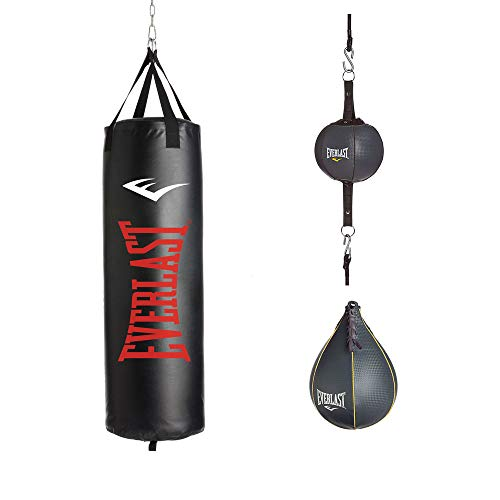 (Everlast P00001776 3 Piece Heavy Bag Kit, 100 lb)