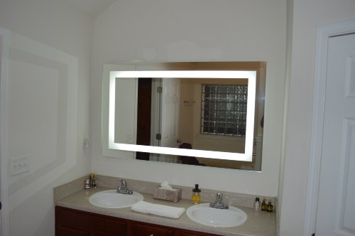 Modern Bathroom Vanity Led Light Crystal Front Mirror: Lighted Vanity Mirror LED MAM86036 Commercial Grade 60