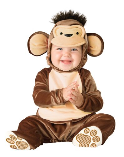 InCharacter Unisex-baby Newborn Monkey Costume, Brown/Cream, 6-12