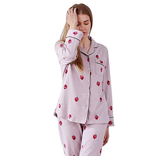 Rosa Dulces 175 Otoño Mujer De Sleepwear Ropa Algodón Cm color Tamaño Home Pijamas PX1xqzw