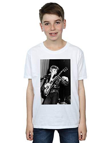 di David per Smiling T bianca chitarra shirt Bowie Boy qw6tzg