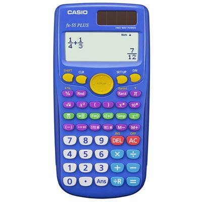 CASIO CSOFX55PLUS CASIO FX55 PLUS DUAL POWER - 10 PLUS 2 DIGIT FRACTION CALC