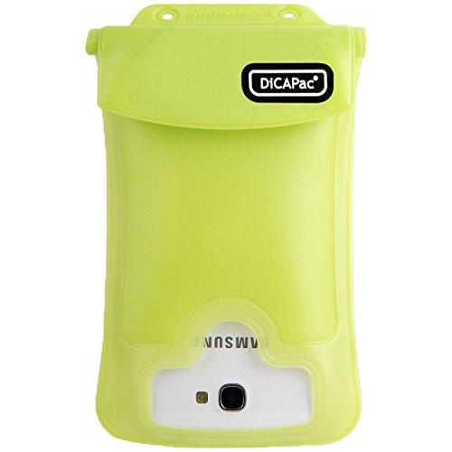 """DiCAPac WP-C2 Wasserdichte Smartphone Hülle für große Smartphones 4,5"""" / 11,4cm bis 5.5"""" 14 cm in grün"""