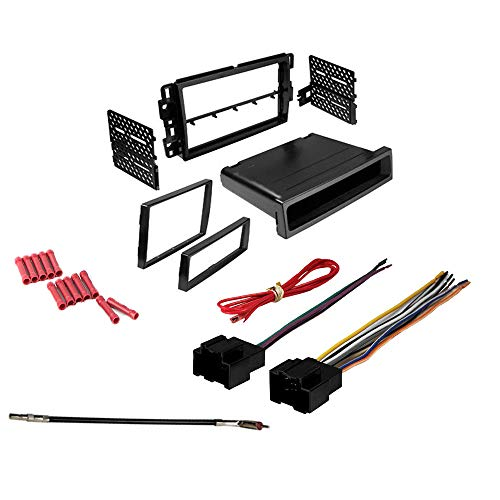 (CACHÉ KIT2 Bundle with Complete Car Stereo Installation Kit Compatible with Chevy Cars Listed Below - in Dash Mounting Kit, Harness, Antenna Adapter for Double or Single Din Radio Receivers (4 Item) )