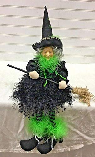 Curly Locks Shelf Sitter Witch Doll Halloween ()