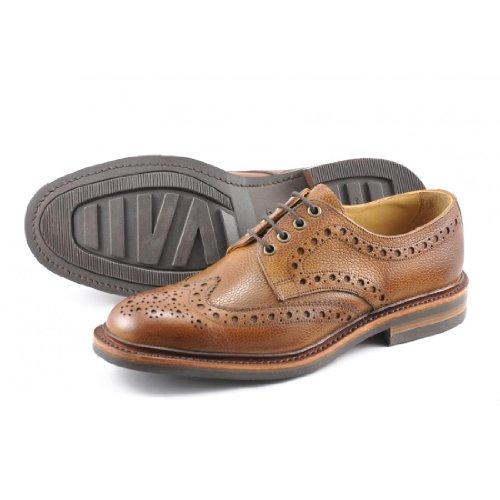 Loake Hommes Tan Grain Otterburn Derby Chaussures