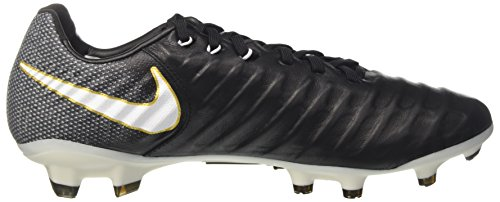Nike Tiempo Legacy III Fg, Scarpe da Calcio Uomo Nero (Black/White-black-metallic Vivid Gold)