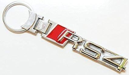 metal macizo RS4 LLAVERO CROMADO: Amazon.es: Coche y moto