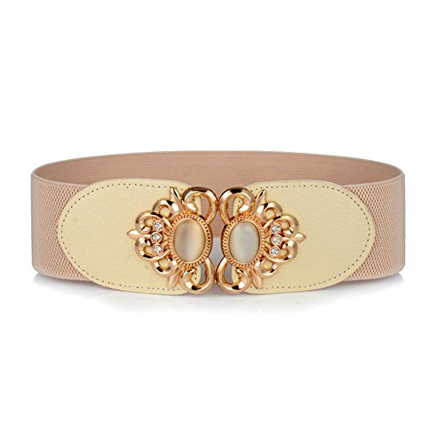 Women's Wide Elastic Stretch Waist Belts with Gemstone /2.3