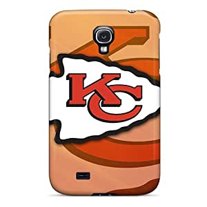 Protector Cell-phone Hard Cover For Galaxy S4 With Unique Design Stylish Kansas City Chiefs Pictures No1cases