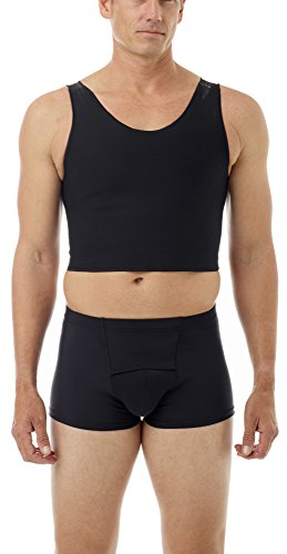 Cotton Lined Power Chest Binder Top Black Large