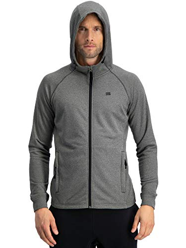 Sweatshirts for Men Zip Up Hoodie - Dry Fit Full Zip Jacket, French Terry Fabric ()