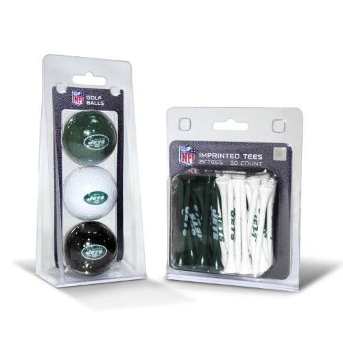 Team Golf NFL New York Jets Logo Imprinted Golf Balls (3 Count) & 2-3/4