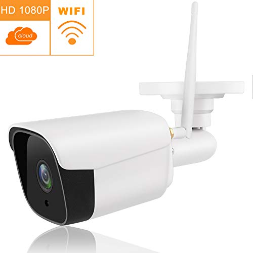 Tovendor Outdoor Bullet Camera, 1080P Weatherproof IP66 CCTV Surveillance System Wifi Security Camera, IR Night Vision Motion Detection, Cloud Service