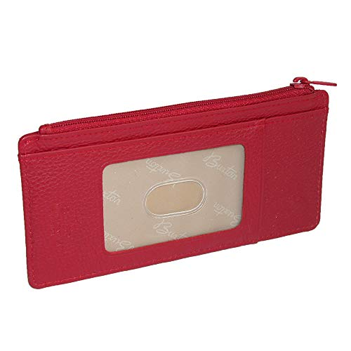 Buxton Hudson Pik-Me-Up Thin Card Holder, Dark red ()