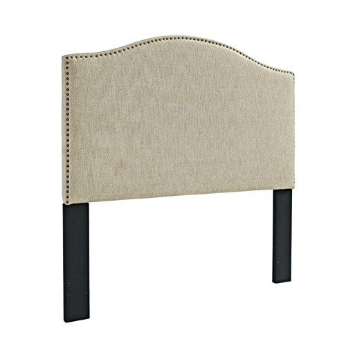 Pulaski Selma Camel Back Linen Panel Headboard, Full / Queen by Pulaski