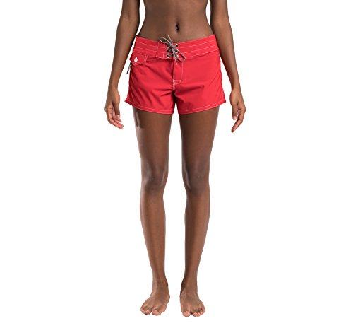 Birdwell Women's Stretch Board Shorts - Regular Rise (Red, 2) by Birdwell Beach Britches (Image #5)