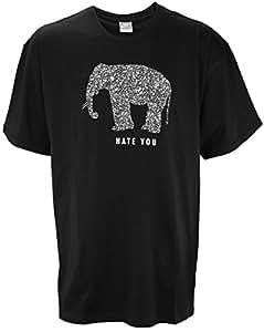 Nike Mens Hate You T-Shirt, Black