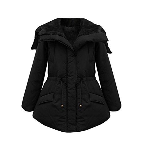 ZKOO Mujer Cálido Acolchada de Abrigo plumas Chaquetas de Invierno Chaqueta Plumiferos Negro