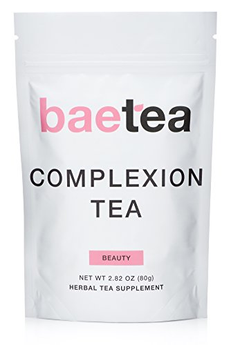 Skin Detox Tea (Baetea Complexion Tea: Get Healthy, Glowing, & Imperfection Free Skin, 26 Servings, with Potent Traditional Organic Herbs, Ultimate Way to Nourish &)