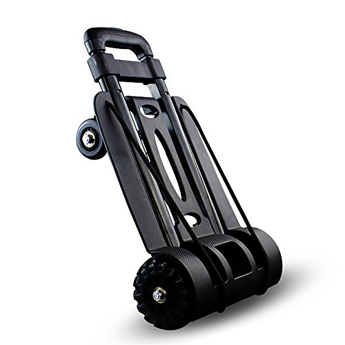 HCC& Hand Truck Folding Compact Lightweight Portable Luggage Cart Multi-Position Heavy Duty for Indoor Outdoor Travel (Multi Position Spray)