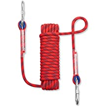NIECOR 12 MM Outdoor Static Rock Climbing Rope,High Strength Accessory Fire Escape Safety Rappelling Rope 32ft,49ft,64ft,98ft,164ft