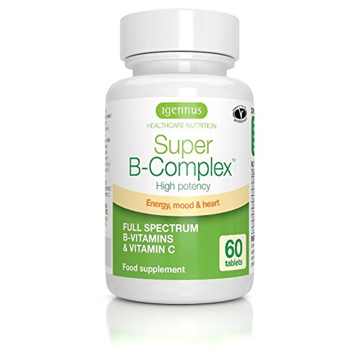 Super B-Complex – Methylated Vitamin B Complex, High Potency with Folate as Quatrefolic & Vitamin C, Vegan, 60 Small Tablets