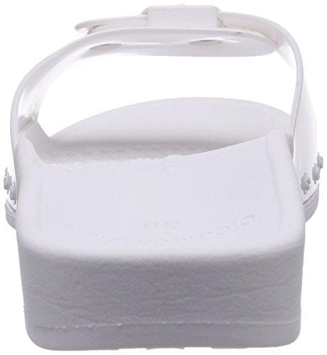 Scholl SCHOLL SUN white - sandalias abiertas de material sintético mujer blanco - blanco (blanco)
